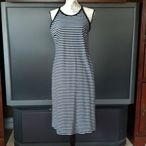 Old Navy black and white striped tank dress